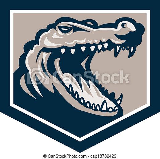 Alligator Head Snout Retro - csp18782423