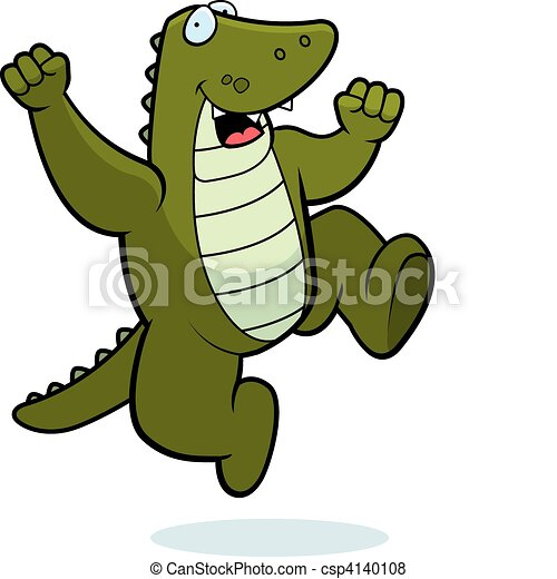 Alligator Jumping - csp4140108