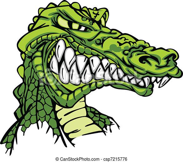 Alligator Mascot Vector Cartoon - csp7215776