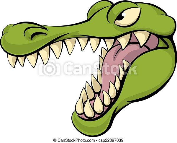 alligator or crocodile cartoon character sports mascot head vectors rh canstockphoto com cartoon alligator clip art free