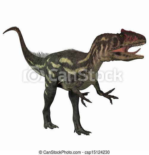 Allosaurus on White - csp15124230