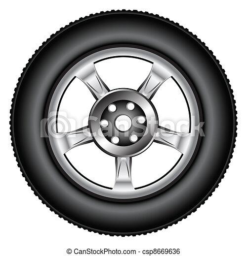 alloy wheel tyre - csp8669636