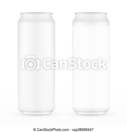 alluminio, 500ml, bevanda, metallo, due, isolato, fondo., bibita può, bianco, etichetta, without. - csp38688447