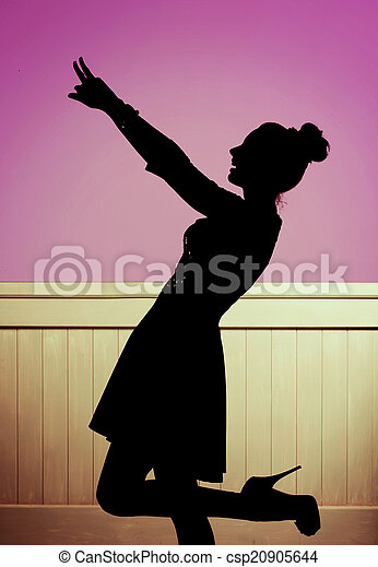 alluring girl in the dancing pose stock photo csp20905644