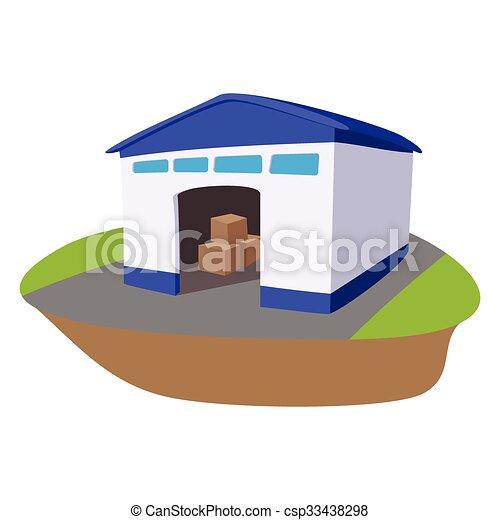 Almacén con ícono de caricatura abierto - csp33438298