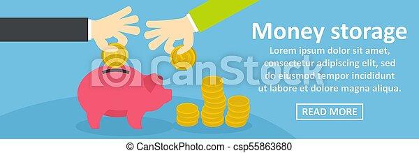 El concepto de almacenamiento de dinero horizontal - csp55863680