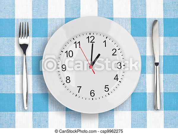 almoço, conceito, tempo - csp9962275