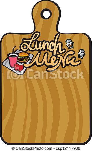 almoço, menu - csp12117908