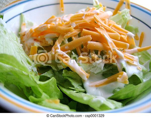 almoço, salada - csp0001329