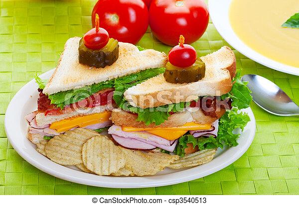 almoço, sanduíche - csp3540513