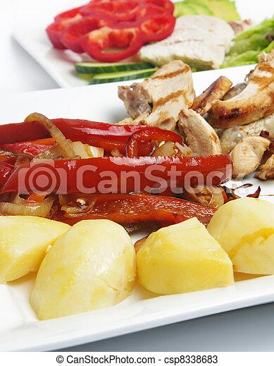 almoço, saudável - csp8338683