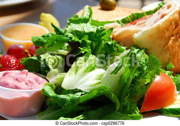 almoço saudável - csp0296776