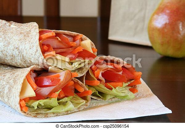 almoço saudável - csp25096154