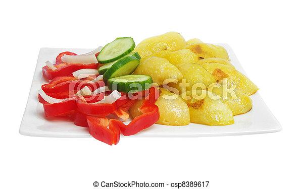 almoço, saudável - csp8389617