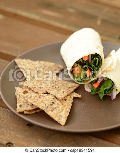 almoço, saudável - csp19341591