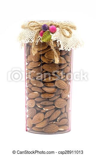 Almond on white background. - csp28911013