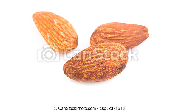Almond on white background - csp52371518