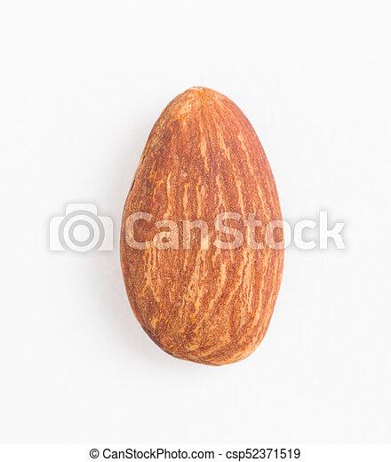 Almond on white background - csp52371519