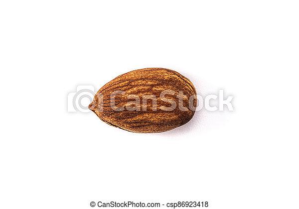 Almond on white background - csp86923418