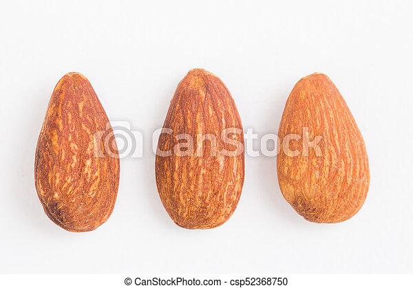 Almond on white background - csp52368750