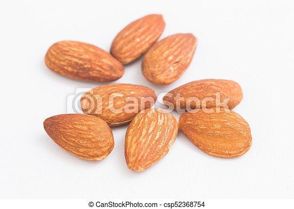 Almond on white background - csp52368754