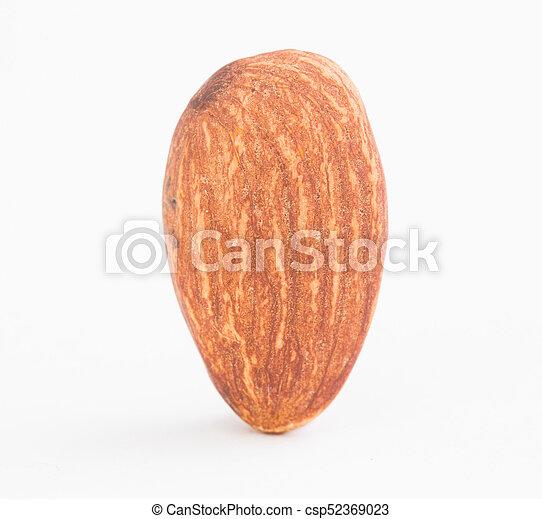 Almond on white background - csp52369023