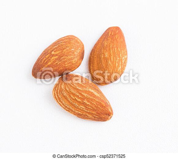 Almond on white background - csp52371525