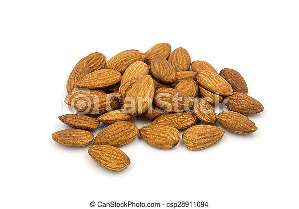 Almond on white background. - csp28911094