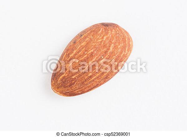 Almond on white background - csp52369001