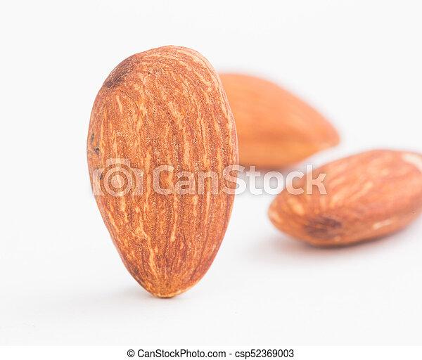 Almond on white background - csp52369003