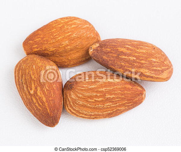 Almond on white background - csp52369006