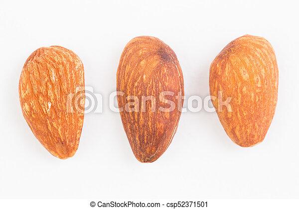 Almond on white background - csp52371501