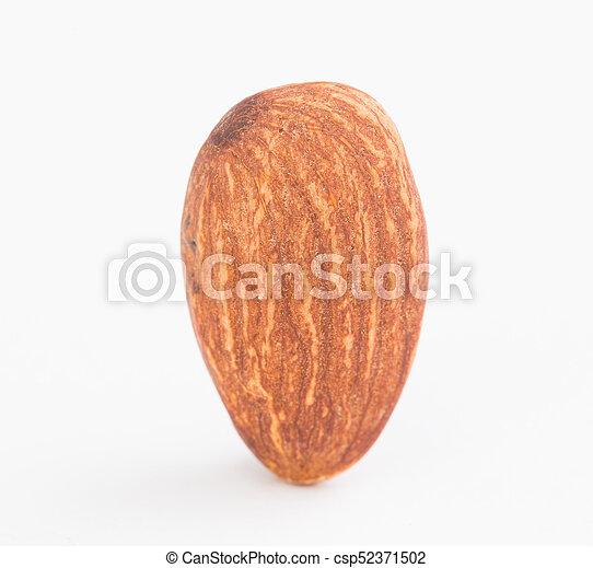 Almond on white background - csp52371502