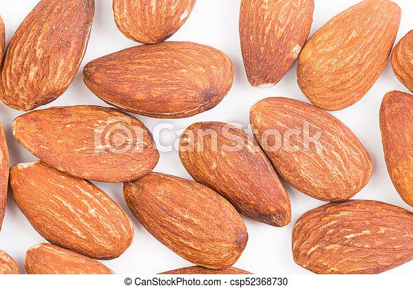 Almond on white background - csp52368730