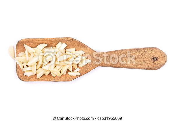 Almond slivers on shovel - csp31955669