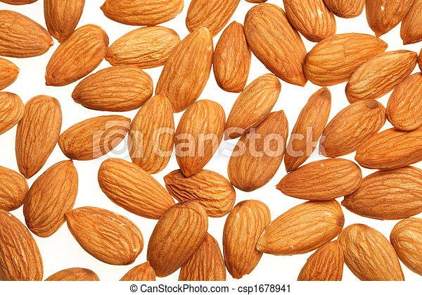 Almonds background - csp1678941