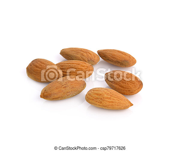 almonds isolated on the white background - csp79717626