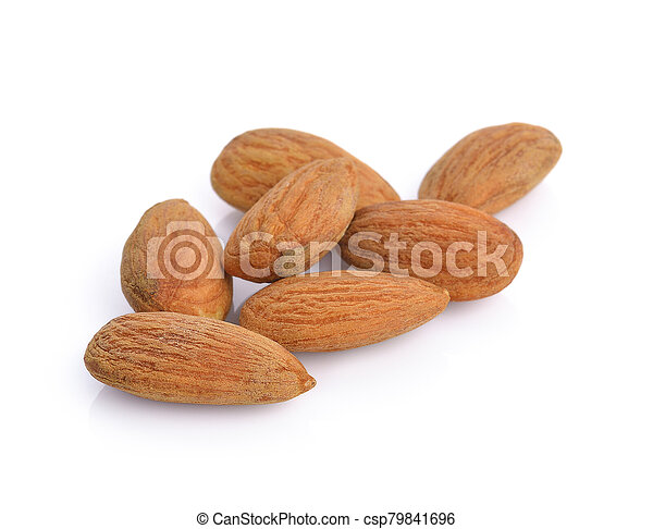 almonds isolated on the white background - csp79841696