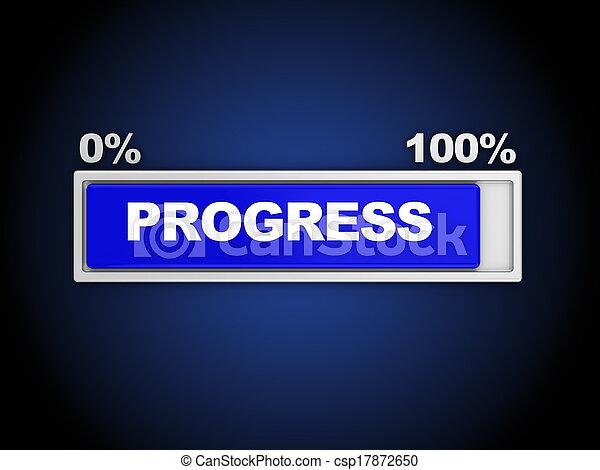 3d Illustration Of Progress Bar Almost Done