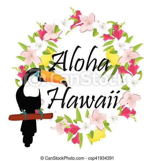 aloha hawaii vector vector illustration aloha hawaii round eps rh canstockphoto com aloha flower clipart aloha clipart black and white