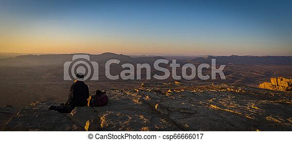 Alone in the Desert - csp66666017