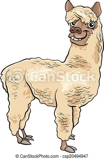 Alpaca cartone animato illustrazione animale - Animale cartone animato immagini gratis ...