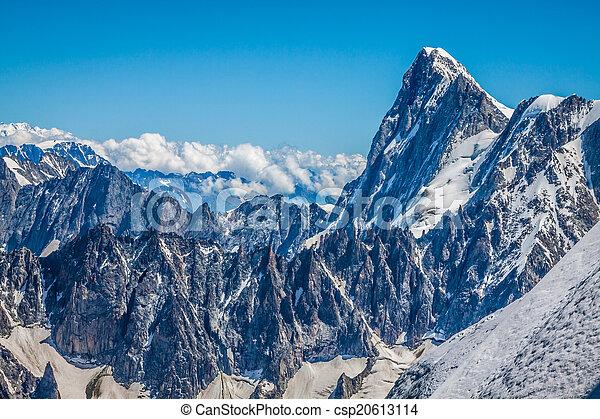 alpen, chamonix., midi, aiguille, du, aanzicht - csp20613114