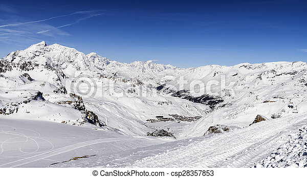 Alperna Frankrike Tignes Tillflykt Frankrike Alperna Llandscape Skida Tarentaise Le Clavet Fransk Tignes