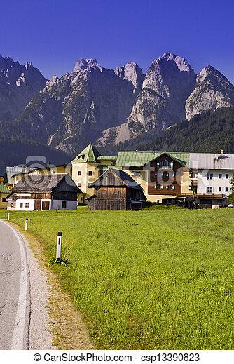 alpes, austríaco, vila - csp13390823