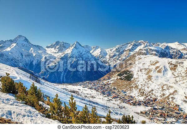 Recursos de esquí en algas francesas - csp7203623