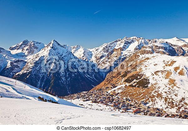 Recursos de esquí en algas francesas - csp10682497