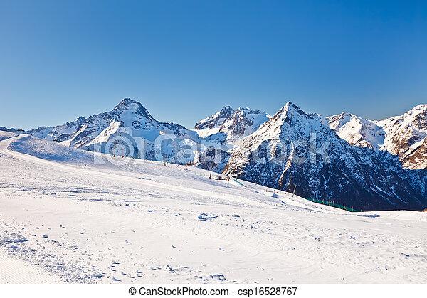 Recursos de esquí en algas francesas - csp16528767