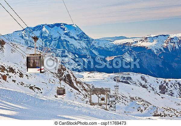 Recursos de esquí en algas francesas - csp11769473