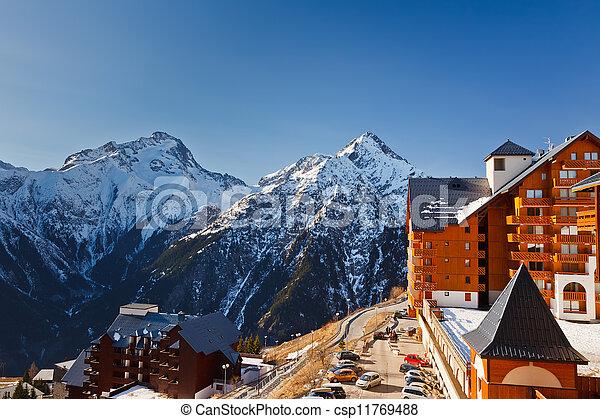 Recursos de esquí en algas francesas - csp11769488